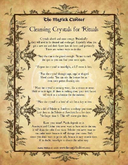 Cleansing Crystals for Rituals from The Magick Cabinet Book of Shadows full of spells and rituals for your own personal use. Blessed Be Witches. Cleansing Crystals, Metaphysical Crystals, Witch Crystals