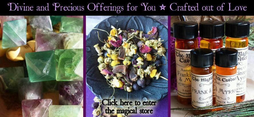 The Magick Cabinet, Witchcraft Supplies, Metaphysical, Witch, Wicca, Perfume Oils, Handcrafted Herbal Blends, Modern Witchcraft, Healing Crystals, Crystal Magic